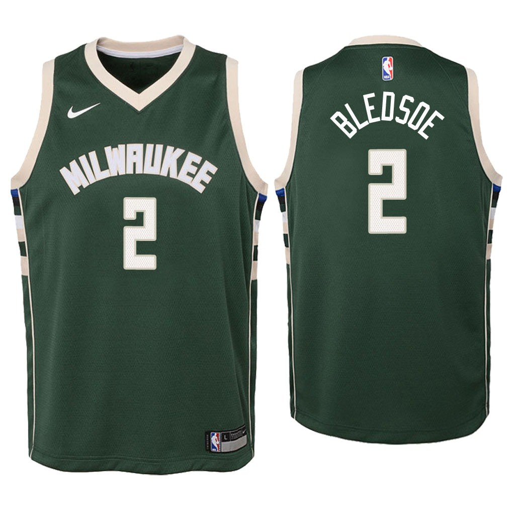 Camisetas NBA Niño Milwaukee Bucks NO.6 Eric Bledsoe Verde Icon 2018 Barats