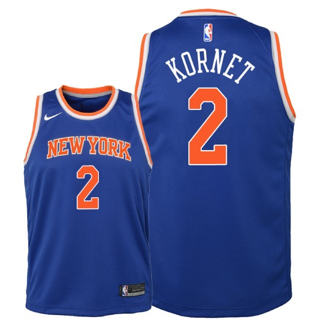 Camisetas NBA Niño New York Knicks NO.2 Luke Kornet Azul Icon 2018 Barats