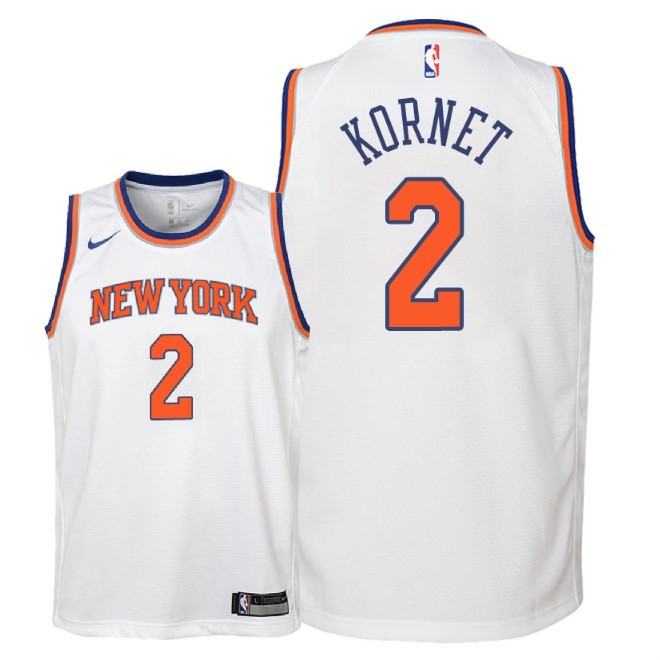 Camisetas NBA Niño New York Knicks NO.2 Luke Kornet Blanco Association 2018 Barats