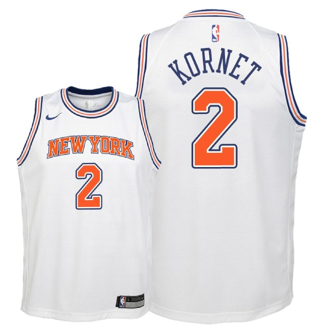 Camisetas NBA Niño New York Knicks NO.2 Luke Kornet Blanco Statement 2018 Barats