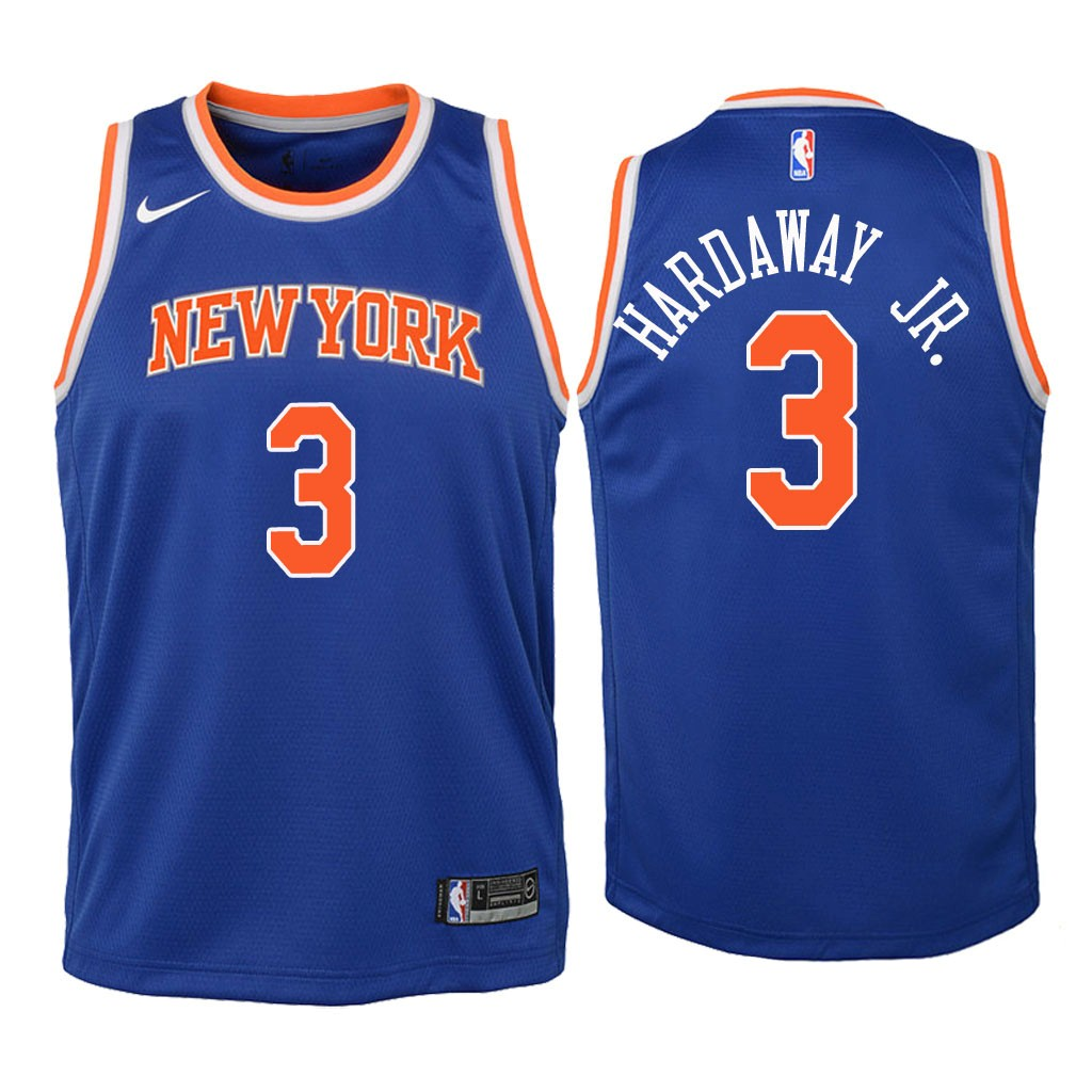 Camisetas NBA Niño New York Knicks NO.3 Tim Hardaway Jr Azul Icon 2018 Barats