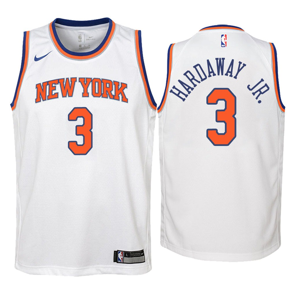 Camisetas NBA Niño New York Knicks NO.3 Tim Hardaway Jr Blanco Association 2018 Barats