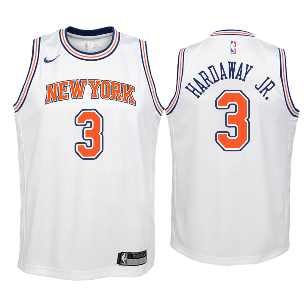 Camisetas NBA Niño New York Knicks NO.3 Tim Hardaway Jr Blanco Statement 2018 Barats