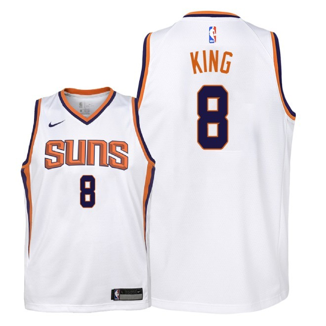 Camisetas NBA Niño Phoenix Suns NO.8 George King Blanco Association 2018 Barats