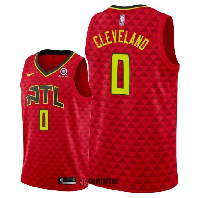 Camisetas NBA Nike Atlanta Hawks NO.0 Antonius Cleveland Rojo Statement 2018 Barats