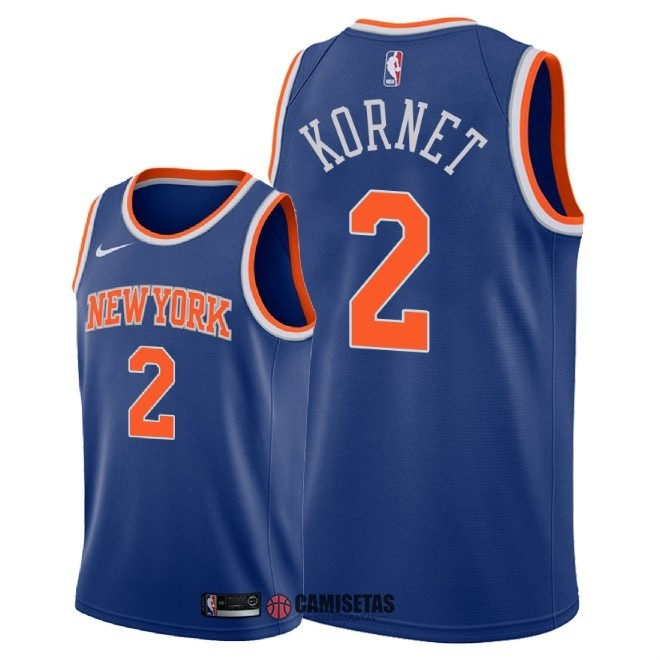 Camisetas NBA Nike New York Knicks NO.2 Luke Kornet Azul Icon 2018 Barats