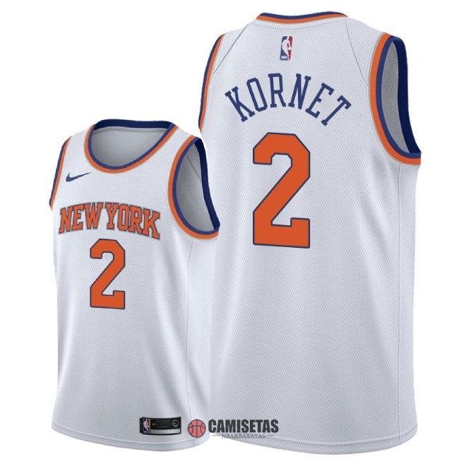 Camisetas NBA Nike New York Knicks NO.2 Luke Kornet Blanco Association 2018 Barats