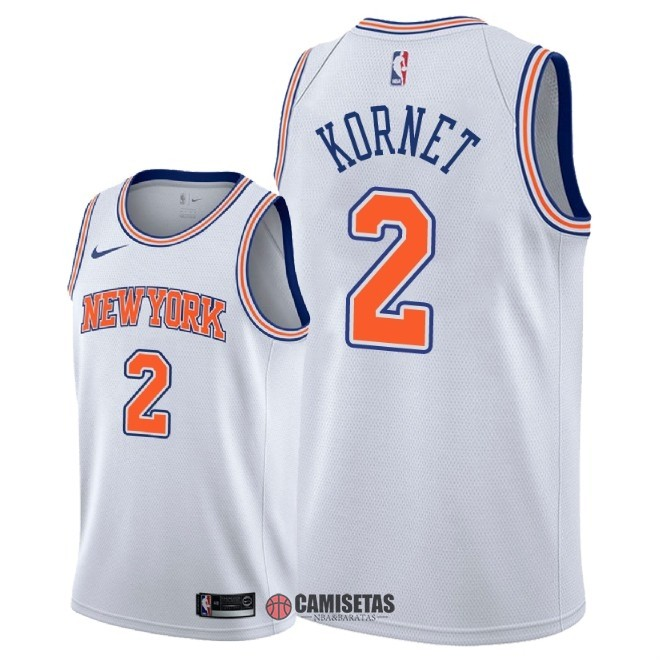 Camisetas NBA Nike New York Knicks NO.2 Luke Kornet Blanco Statement 2018 Barats