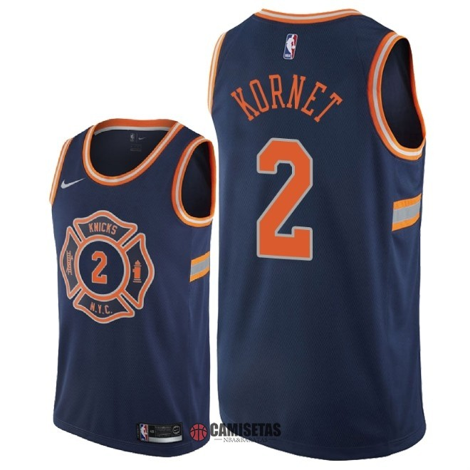Camisetas NBA Nike New York Knicks NO.2 Luke Kornet Nike Marino Ciudad 2018 Barats