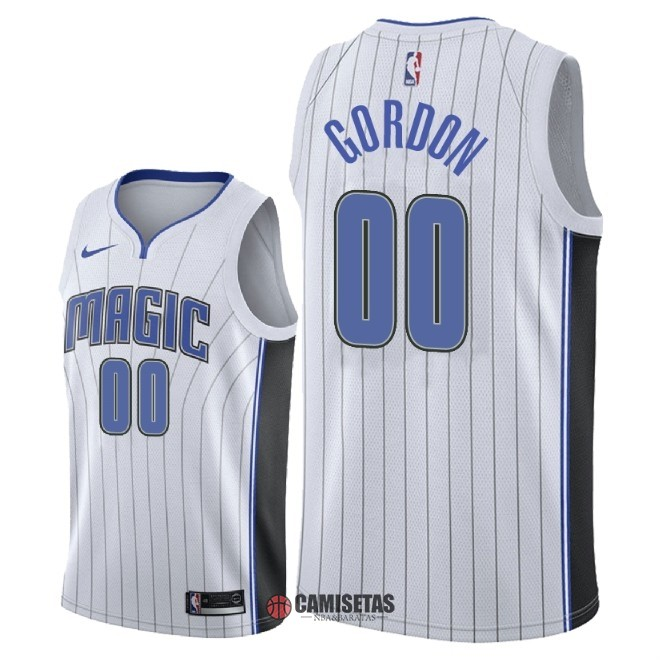 Camisetas NBA Nike Orlando Magic NO.0 Aaron Gordon Blanco Association 2018 Barats