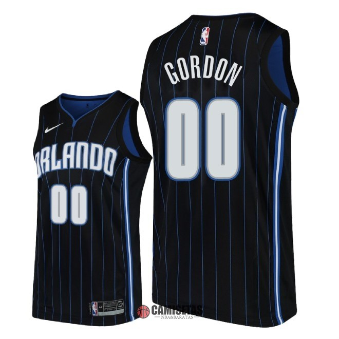 Camisetas NBA Nike Orlando Magic NO.0 Aaron Gordon Negro Statement 2018 Barats