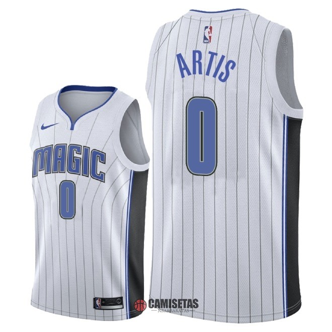 Camisetas NBA Nike Orlando Magic NO.0 Jamel Artis Blanco Association 2018 Barats