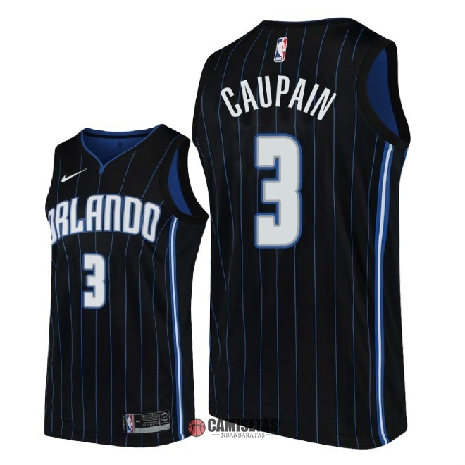 Camisetas NBA Nike Orlando Magic NO.3 Troy Caupain Negro Statement 2018 Barats