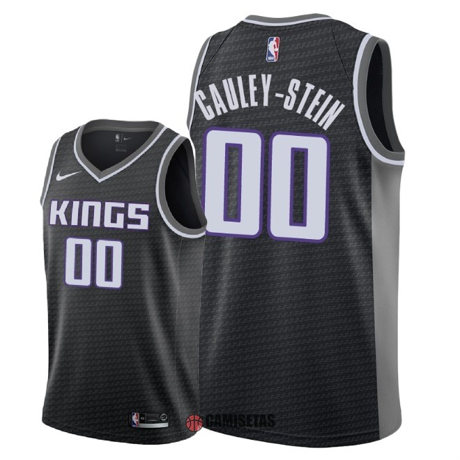 Camisetas NBA Nike Sacramento Kings NO.0 Willie Cauley Stein Negro Statement 2018 Barats
