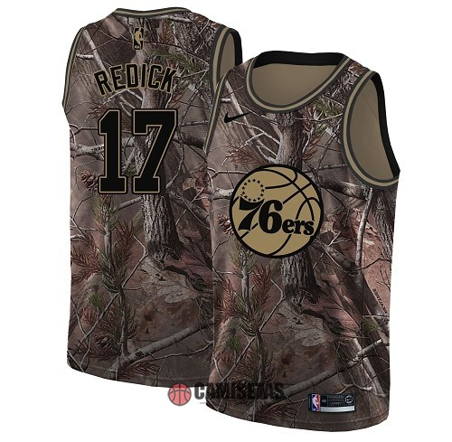 Camisetas NBA Philadelphia Sixers NO.17 JJ Redick Camo Swingman Realtree Collection 2018 Barats