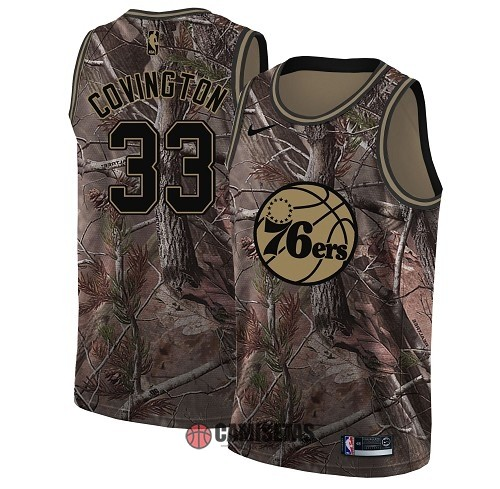 Camisetas NBA Philadelphia Sixers NO.33 Robert Covington Camo Swingman Realtree Collection 2018 Barats