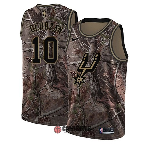 Camisetas NBA San Antonio Spurs NO.10 DeMar DeRozan Camo Swingman Realtree Collection 2018 Barats