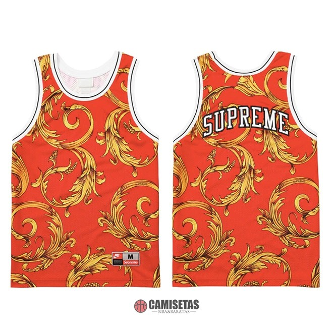 Camisetas NBA Supreme x Nike Air Foamposite Rojo 2018 Barats