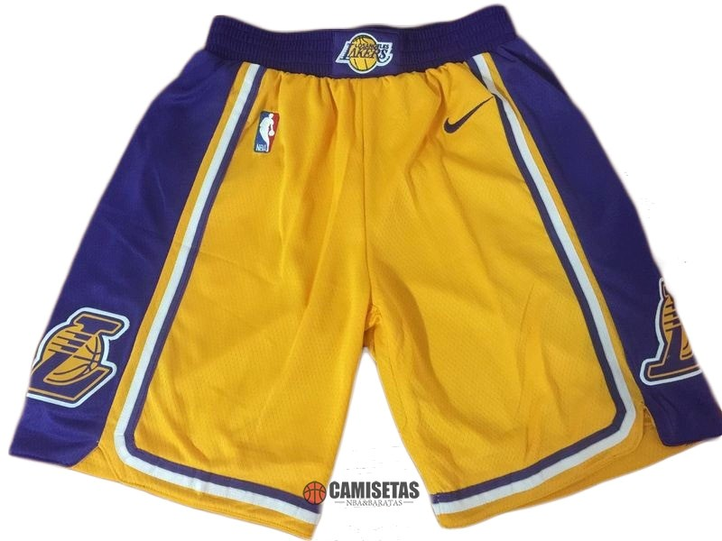 Pantalones Basket Los Angeles Lakers Nike Amarillo 2018-19 Barats