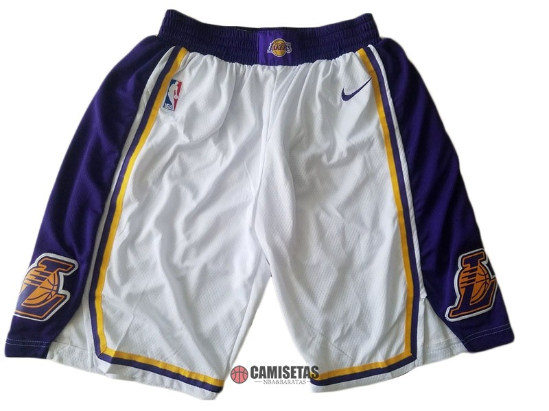 Pantalones Basket Los Angeles Lakers Nike Blanco 2018-19 Barats