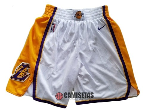 Pantalones Basket Los Angeles Lakers Nike Blanco 2018 Barats
