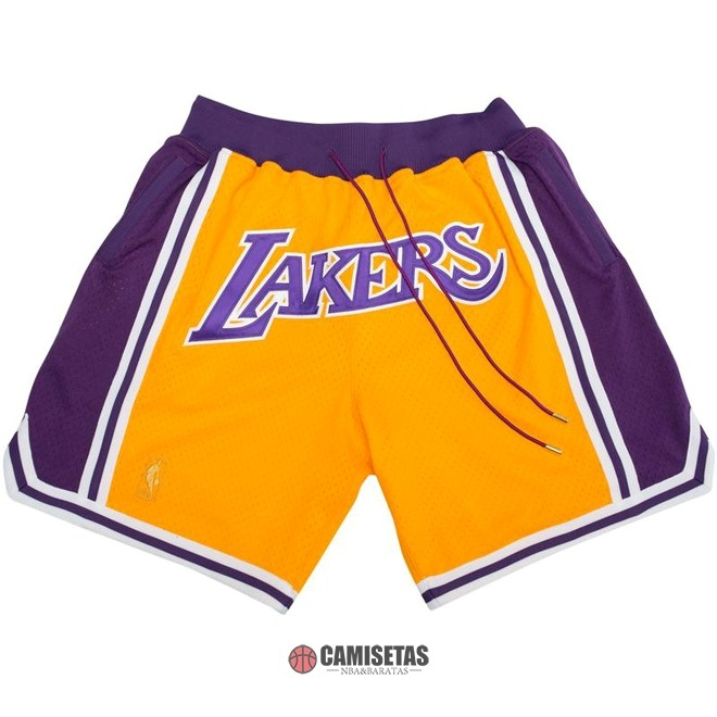 Pantalones Basket Los Angeles Lakers Nike Retro Amarillo 2018 Barats