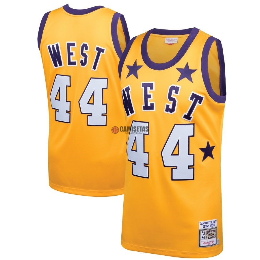 Camisetas NBA All Star 1972 NO.44 Jerry West Amarillo Barats