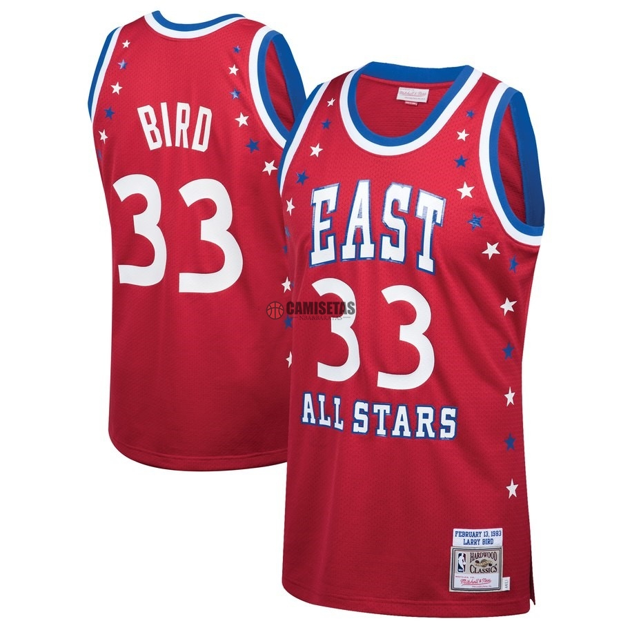 Camisetas NBA All Star 1983 NO.33 Larry Bird Rojo Barats