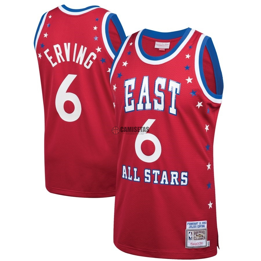 Camisetas NBA All Star 1983 NO.6 Julius Erving Rojo Barats