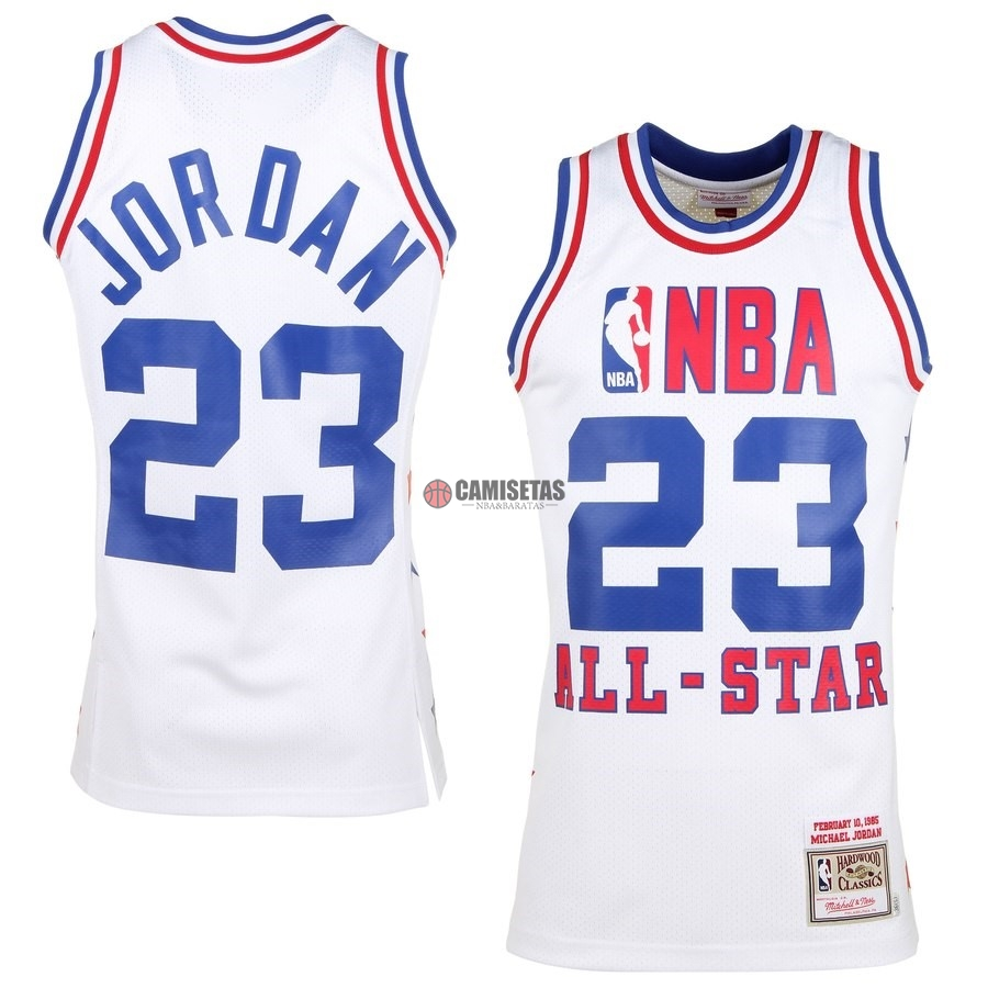 Camisetas NBA All Star 1985 NO.23 Michael Jordan Blanco Barats