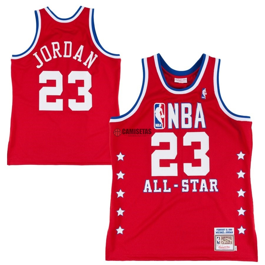 Camisetas NBA All Star 1988 89 NO.23 Michael Jordan Rojo Barats