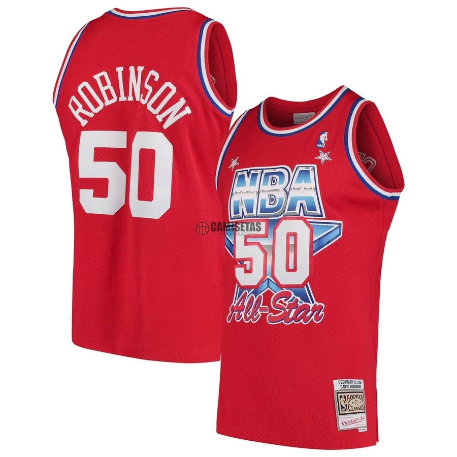 Camisetas NBA All Star 1991 NO.50 David Robinson Rojo Barats