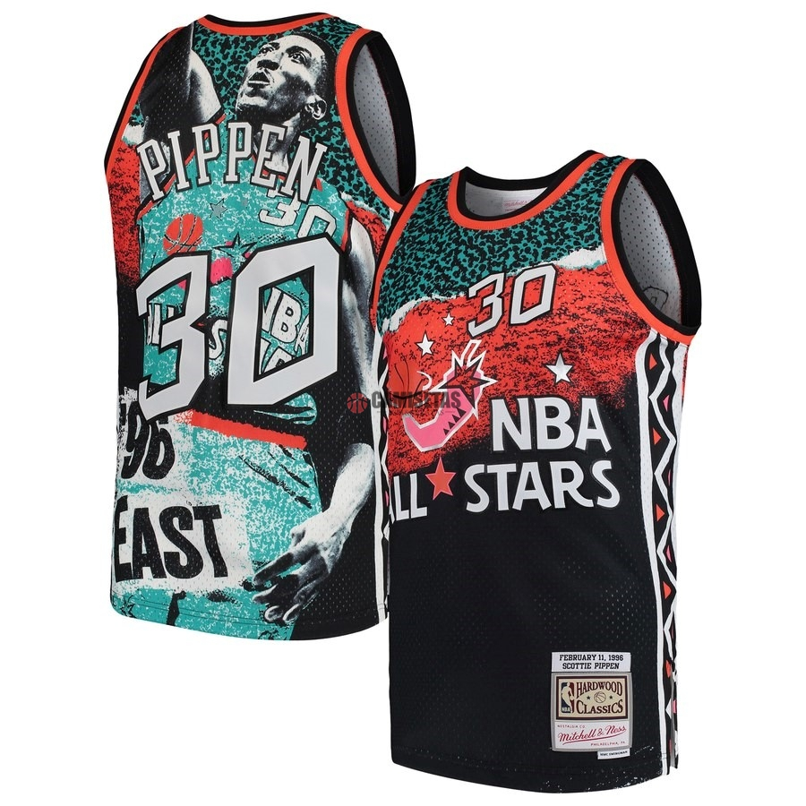 Camisetas NBA All Star 1996 NO.30 Scottie Pippen Negro Barats