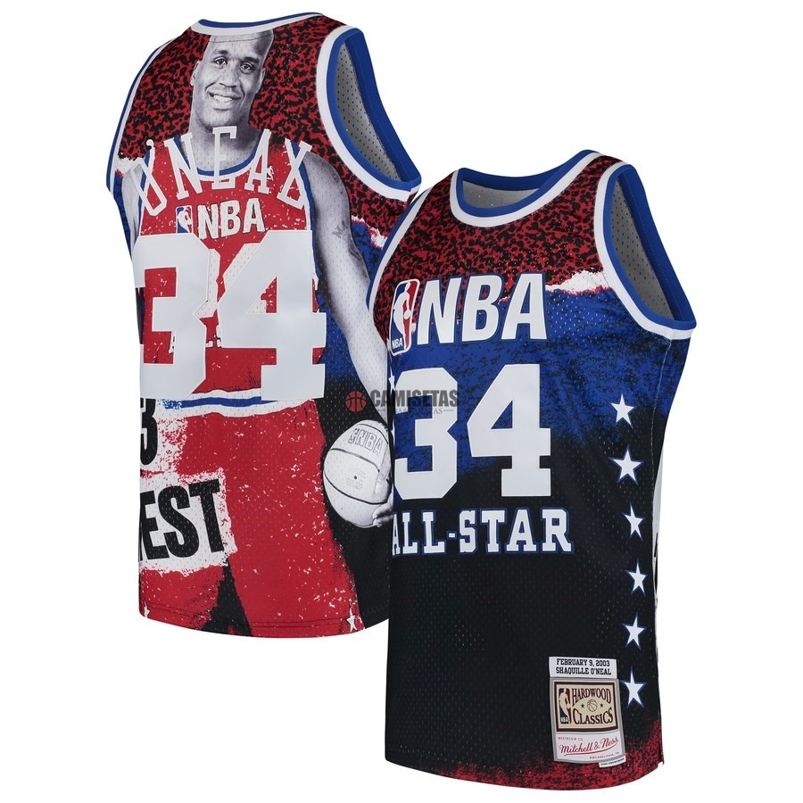 Camisetas NBA All Star 2003 NO.34 ShaquilleO'Neal Rojo Barats