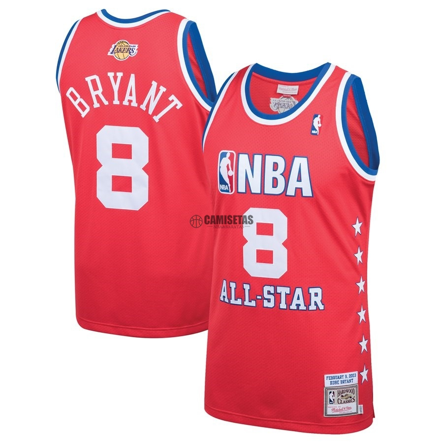 Camisetas NBA All Star 2003 NO.8 Kobe Bryant Rojo Barats