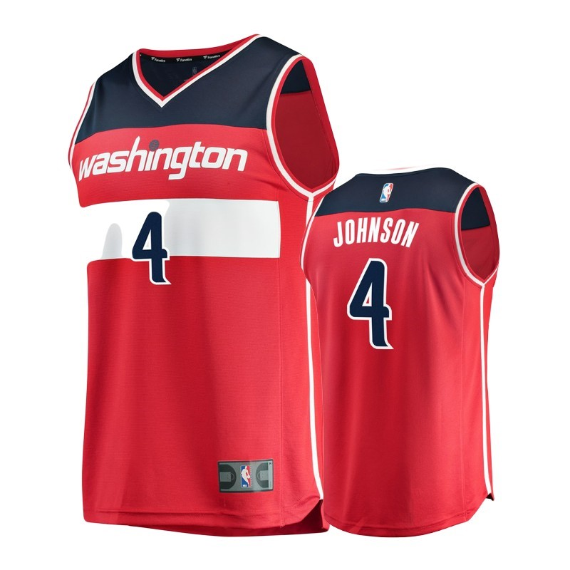 Camisetas NBA Niño Washington Wizards NO.4 Wesley Johnson Rojo Icon Barats
