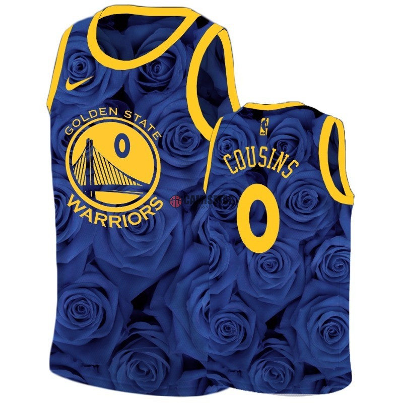 Camisetas NBA Nike Golden State Warriors NO.0 DeMarcus Cousins Marino Barats