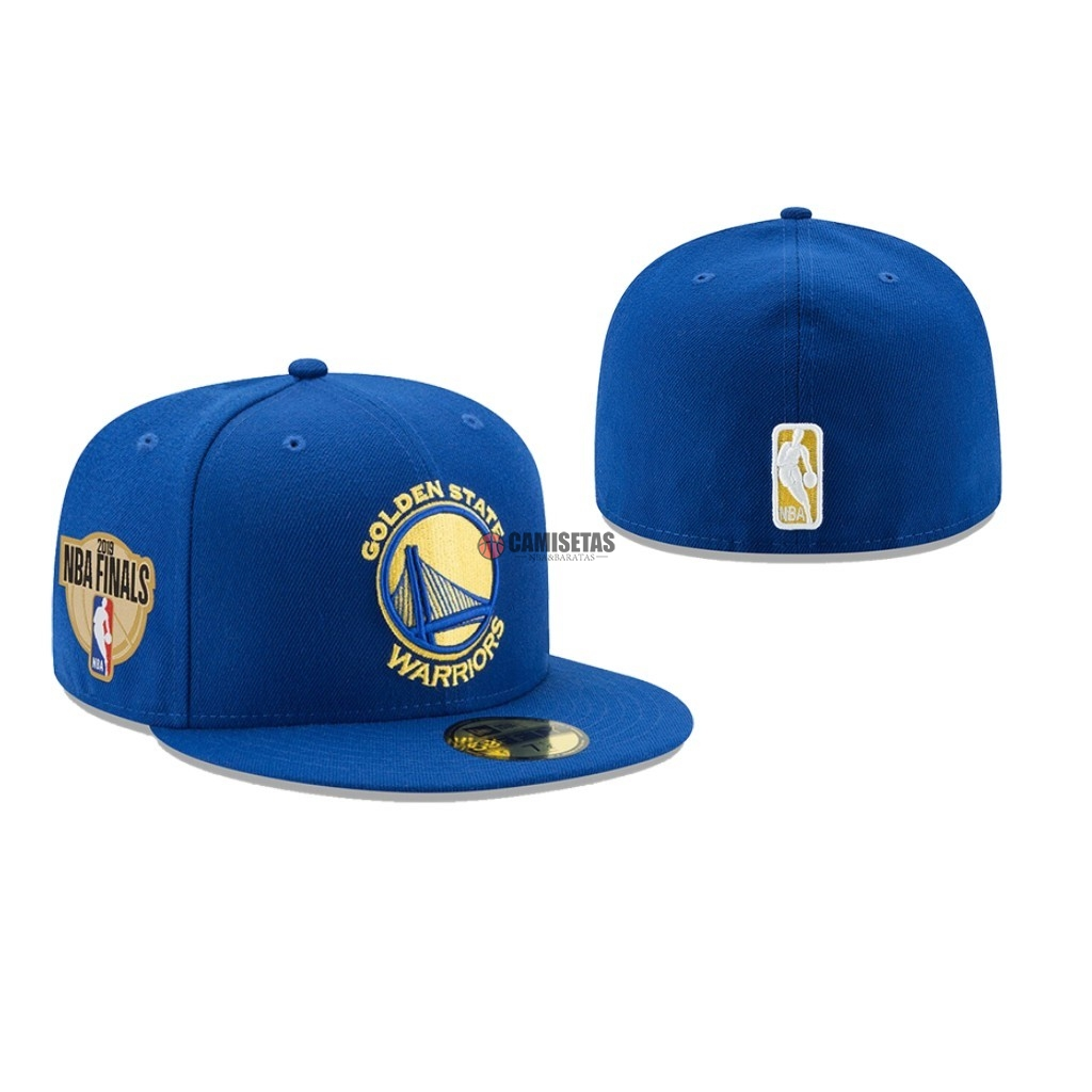 Gorros 2019 NBA Finals Golden State Warriors Azul 02 Barats