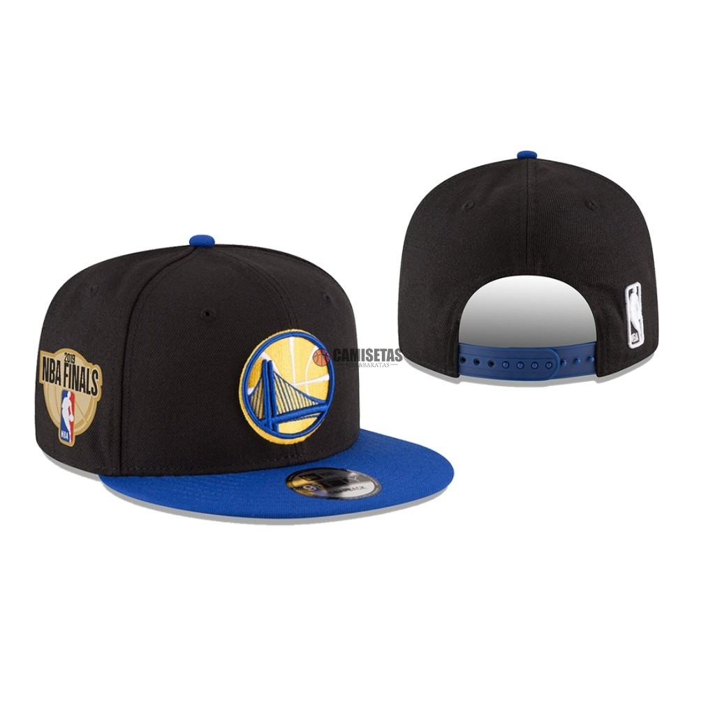 Gorros 2019 NBA Finals Golden State Warriors Negro 01 Barats