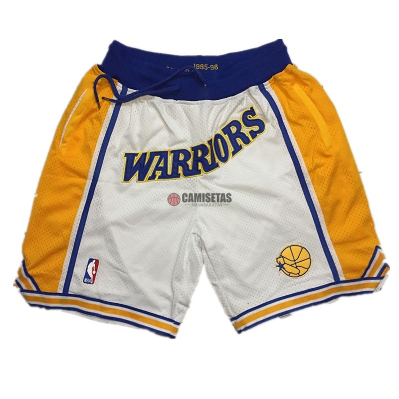 Pantalones Basket Golden State Warriors Curry Blanco Barats