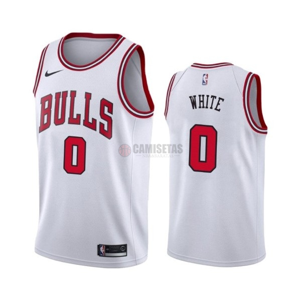 Camisetas NBA Nike Chicago Bulls NO.0 Coby White Blanco Association 2019-20