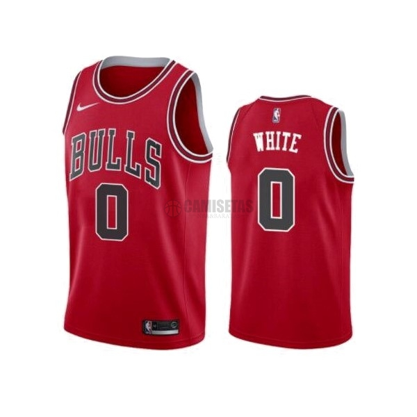 Camisetas NBA Nike Chicago Bulls NO.0 Coby White Rojo Icon 2019-20