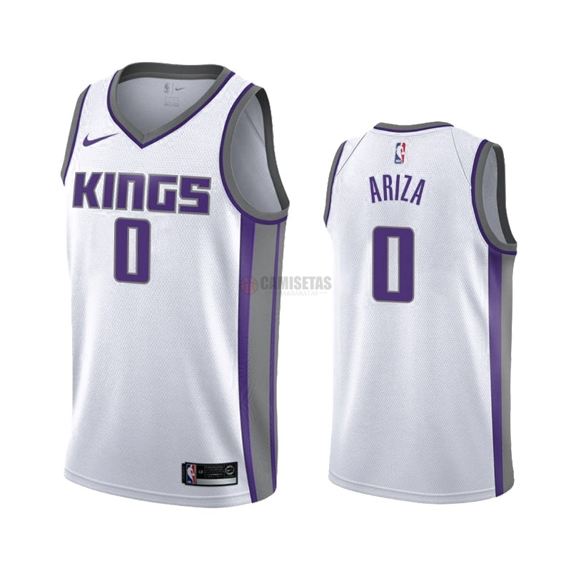 Camisetas NBA Nike Sacramento Kings NO.0 Trevor Ariza Blanco Association 2019-20