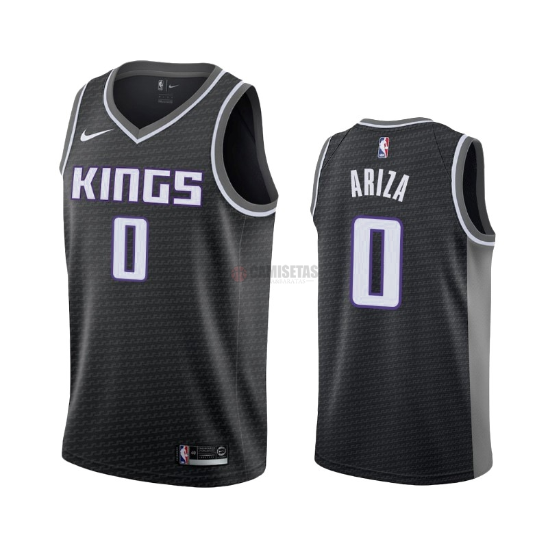 Camisetas NBA Nike Sacramento Kings NO.0 Trevor Ariza Negro Statement 2019-20