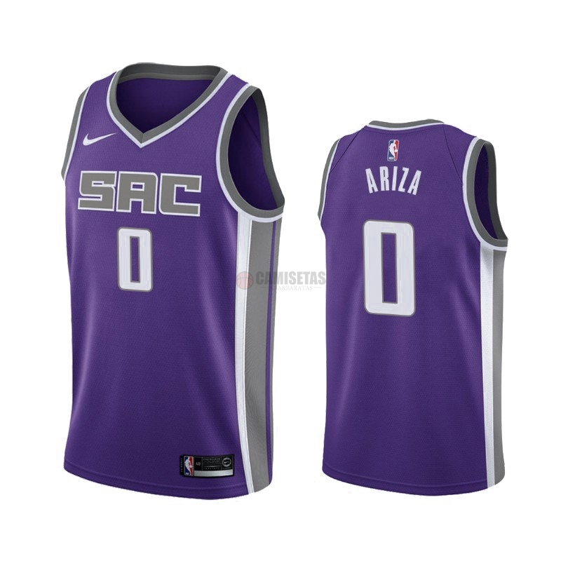 Camisetas NBA Nike Sacramento Kings NO.0 Trevor Ariza Púrpura Icon 2019-20