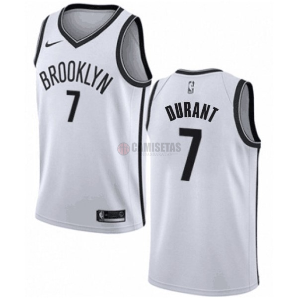 Camisetas NBA Niño Brooklyn Nets NO.7 Kevin Durant Blanco Association 2019-20
