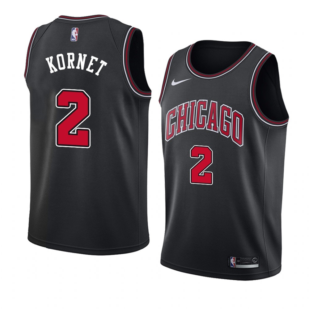 Camisetas NBA Nike Chicago Bulls NO.2 Luke Kornet Negro Statement 2019-20
