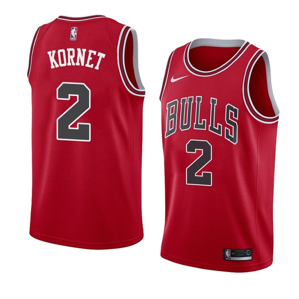 Camisetas NBA Nike Chicago Bulls NO.2 Luke Kornet Rojo Icon 2019-20