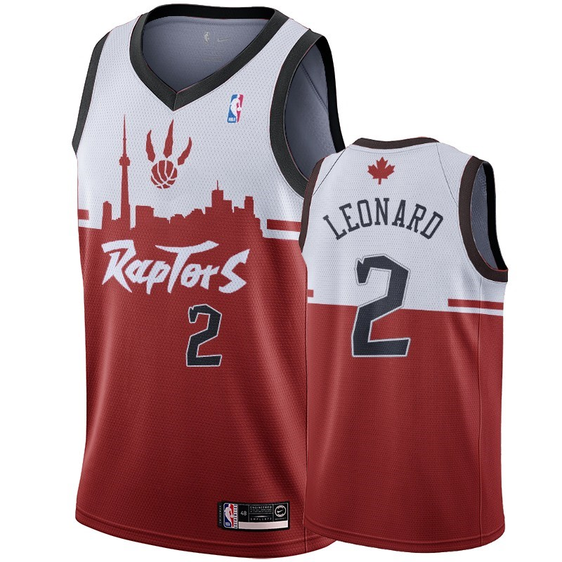Camisetas NBA Nike Toronto Raptors NO.2 Kawhi Leonard Rojo Hometown Collection