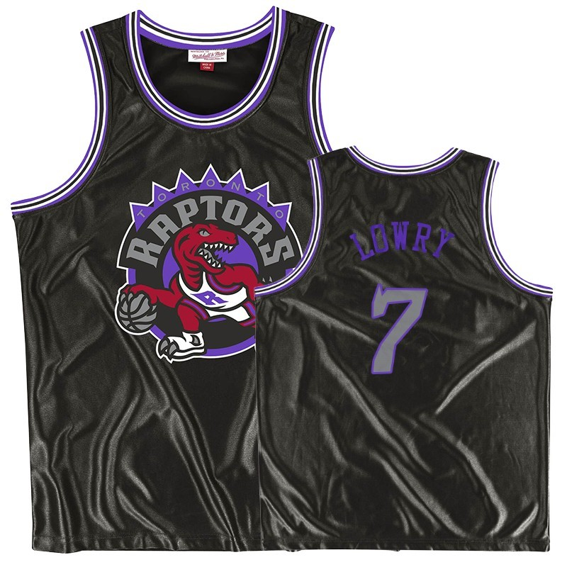 Camisetas NBA Toronto Raptors NO.7 Kyle Lowry Negro Throwback